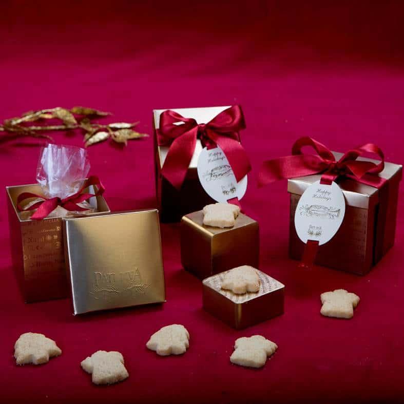 caixa presentinho de natal com amanteigados
