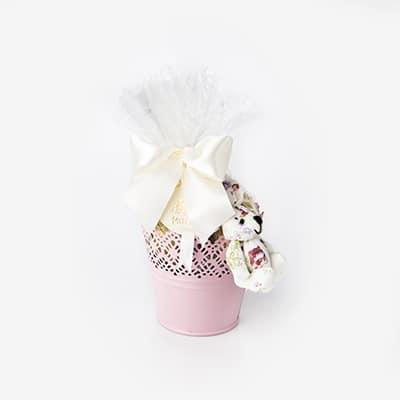 cachepot com coelho florido ok
