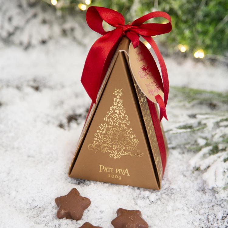 caixa estrelinhas arvore de natal