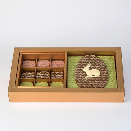 Gaveta com 18 Bombons de Páscoa e Placa de Chocolate