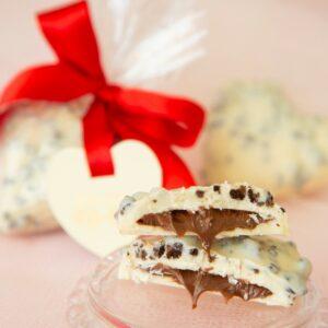Coração Nutella e Cookies